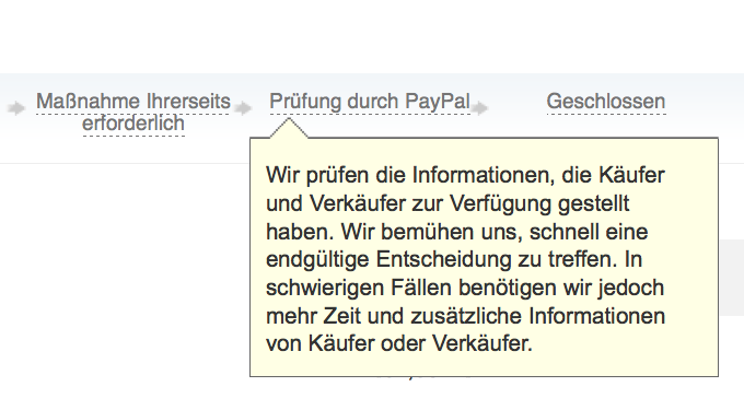 PayPal Konfliktlösung, PayPal law